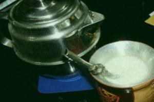 Mate de leche preparado